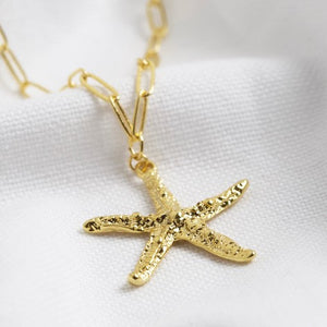 Lisa Angel - Gold Starfish Necklace
