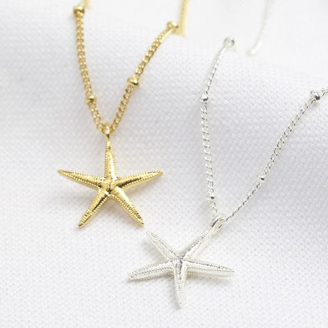 Lisa Angel - Starfish Pendant Necklace in Gold or Silver