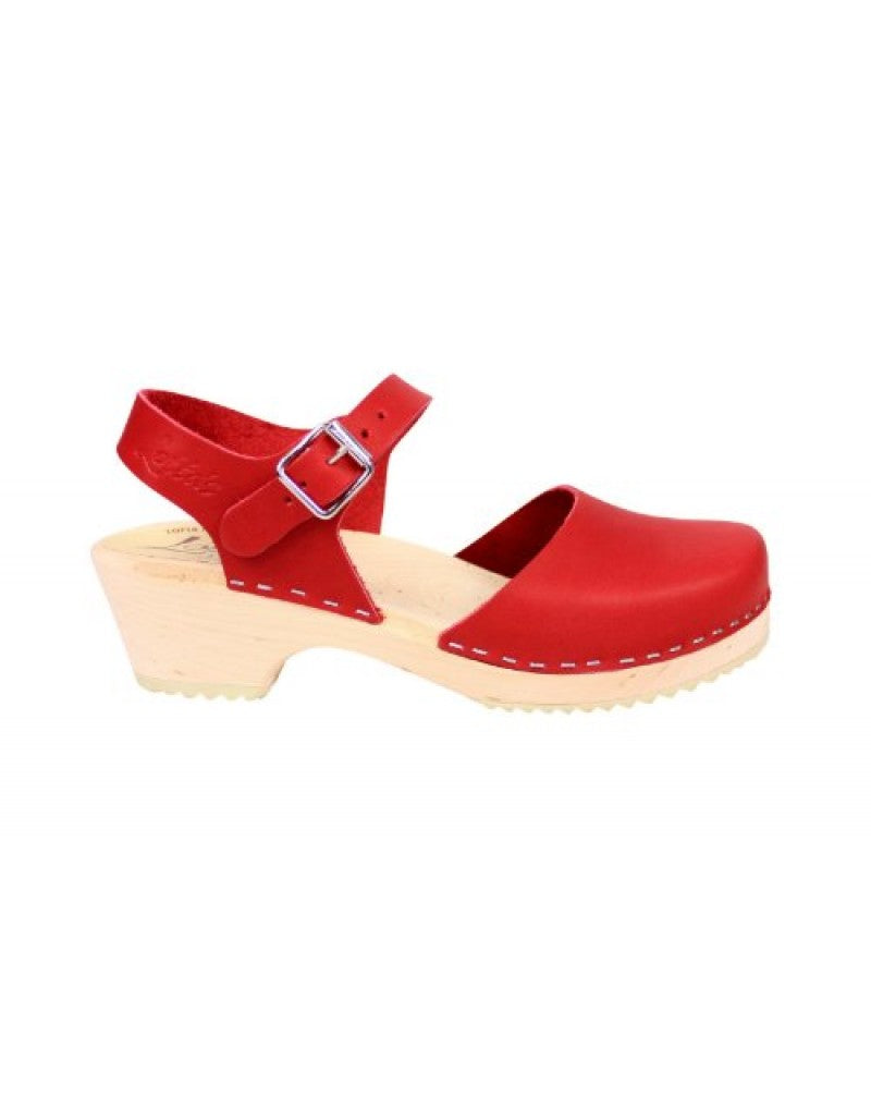 Lotta Clogs Low Wood in Red