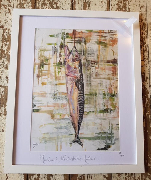 Mackerel Whitstable Harbour - Fine Art Print
