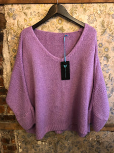 Italian Knitwear - Mohair mix knitted jumper - Lilac