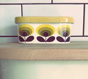 Orla Kiely Butterdish Flower Yellow