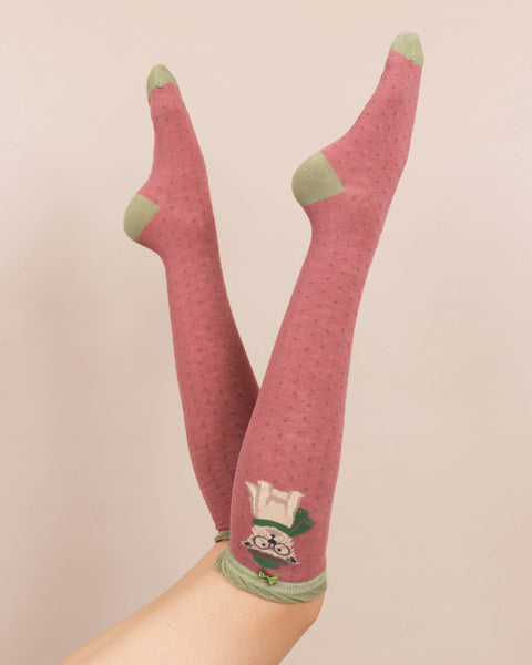 Winter Westie Knee High Socks by Powder