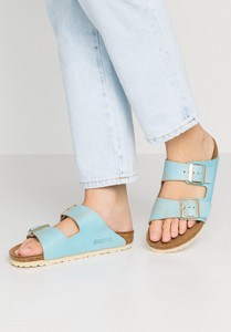Birkenstock Arizona - Washed Metallic Aqua