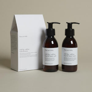 Plum & Ashby - Duo Gift Set Wild Fig + Saffron Wash & Lotion