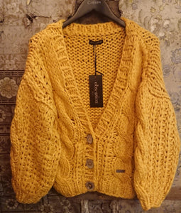 Italian Knitwear, Chunky Cable Knit Cardigan