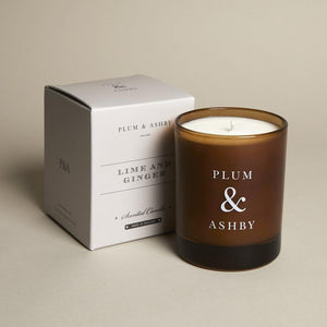 Plum & Ashby Lime and Ginger Scented Candle
