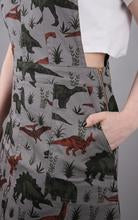 Run & Fly Adventure Dinosaur Pinafore Twill Dress