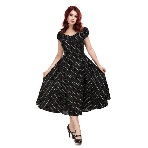 Collectif Dolores Mini Polka Dot Doll Dress