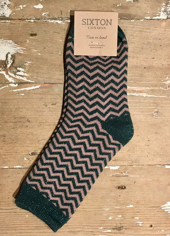 Zigzag Forest Socks by Sixton