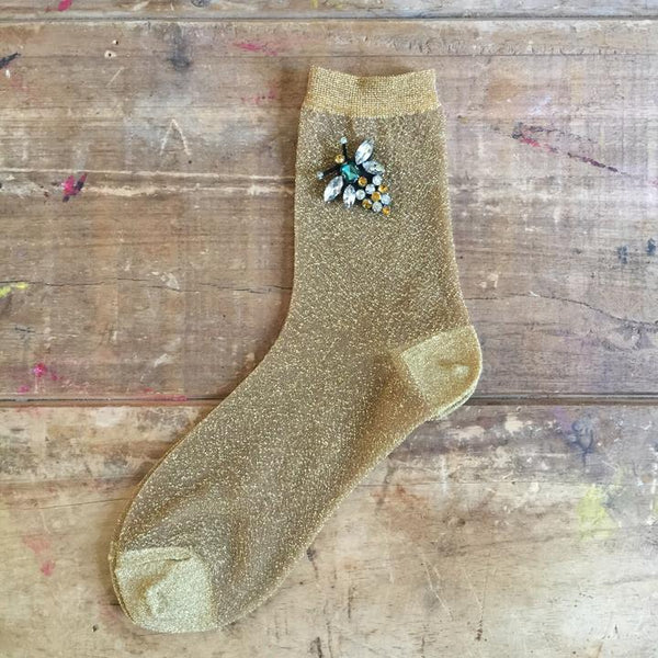 Rio Socks in Gold by Sixton