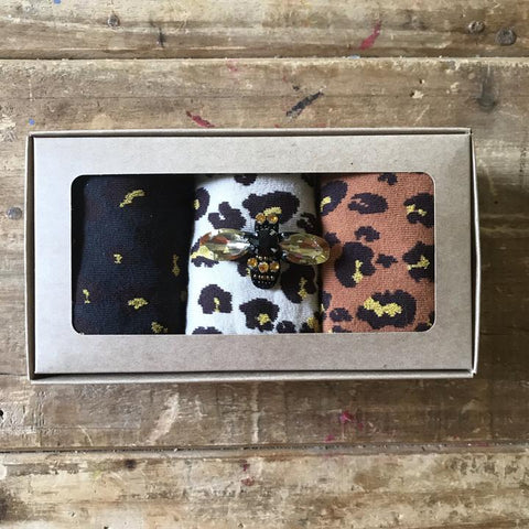 Leopard Canyon Sock Box by Sixton