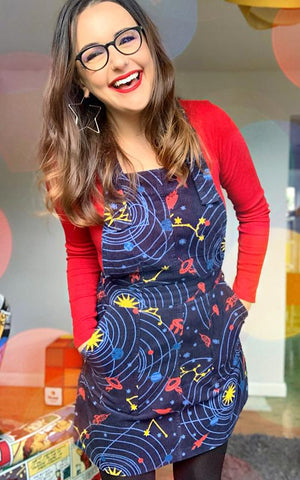 Run & Fly Corduroy Outta This World Pinafore Dress