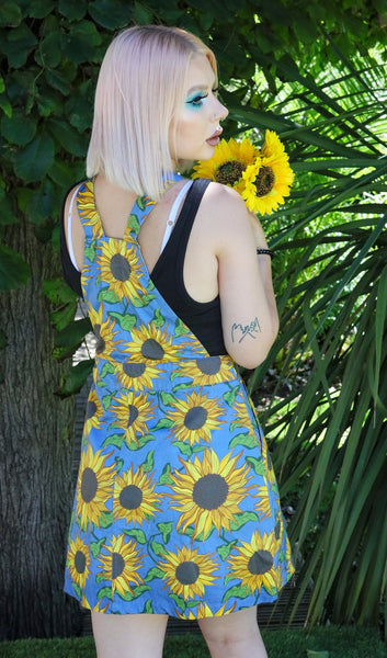Run and fly Pinafore dress sunflower