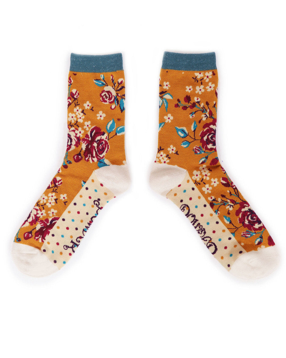 Powder Rosebud Ankle socks