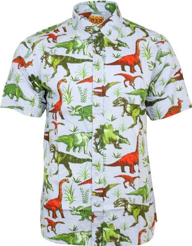 Dinosaur Adventure Print Shirt by Run & Fly
