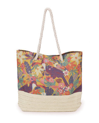 Toucan Print Beach Bag by Powder