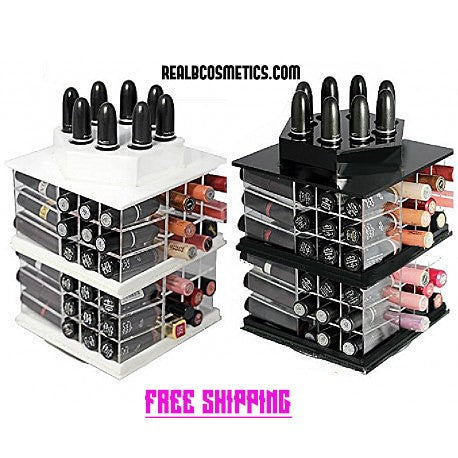 2 spinning lipstick bar. black AND WHITE