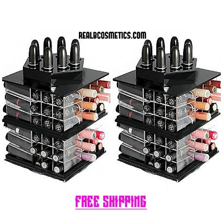 2 BLACK spinning lipstick bar