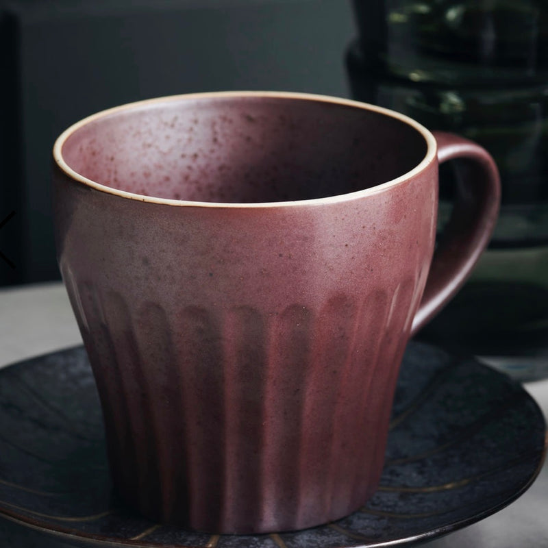 Rust Ribbed Mugs - Bagel&Griff