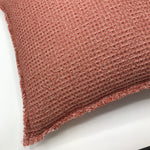 Soft Chambray Rust Waffle Cushion - Bagel&Griff