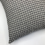 Soft Grey Chambray Waffle Cushion - Bagel&Griff