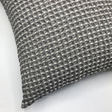 Soft Grey Chambray Waffle Cushion