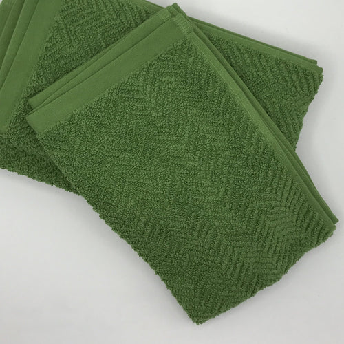 Green Herringbone Hand Towel - Bagel&Griff