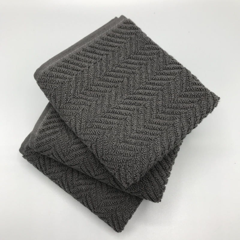 Carbon Herringbone Hand Towel - Bagel&Griff