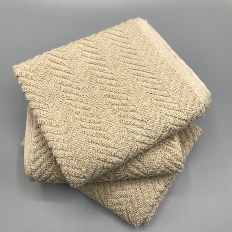 Natural Herringbone Hand Towel - Bagel&Griff