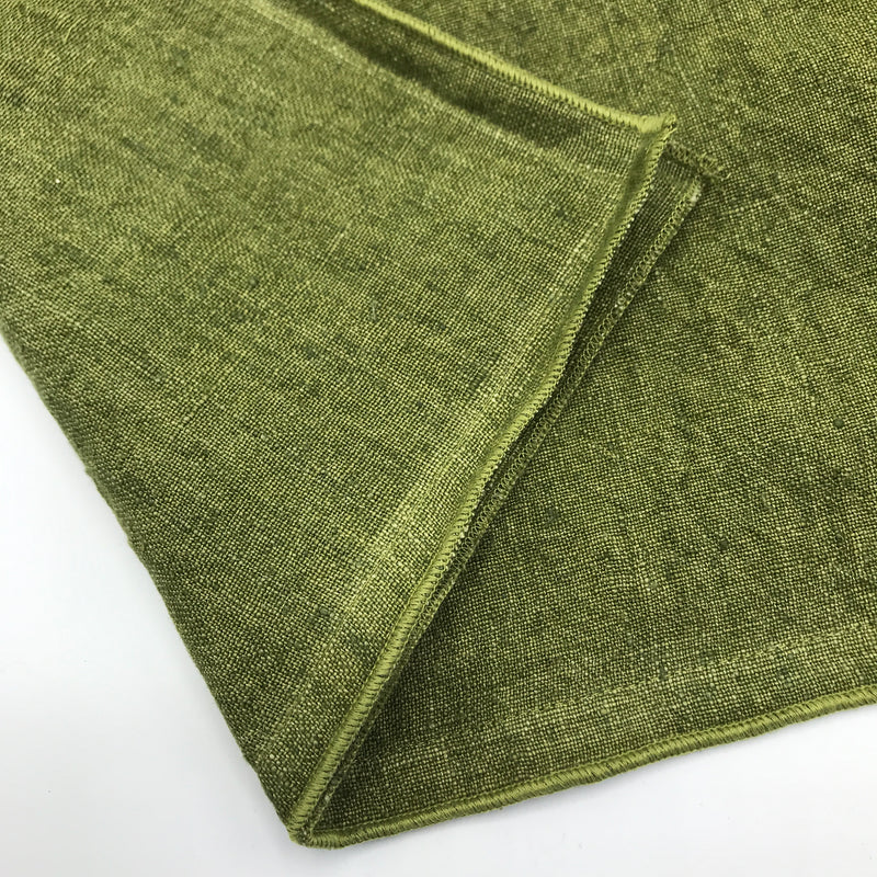 Fern Green Linen Cushion - Bagel&Griff