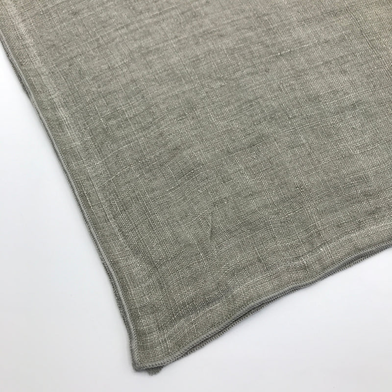 Silver Grey Linen Cushion - Bagel&Griff