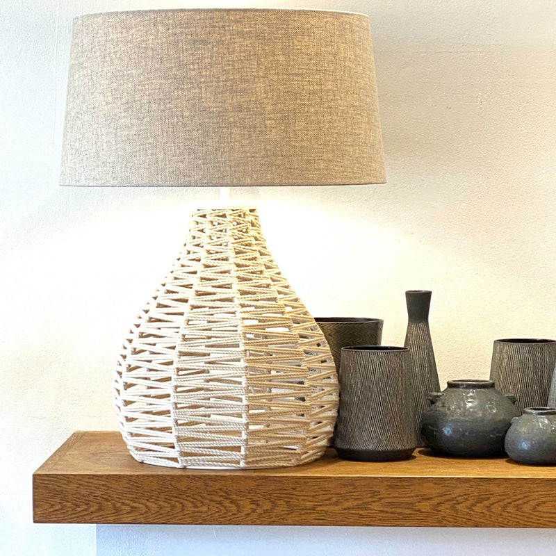 Natural Rope Lamp - Bagel&Griff