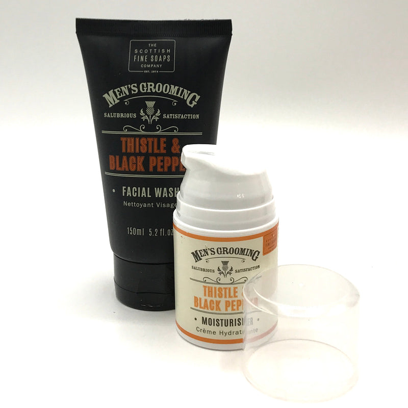 Men's Grooming Thistle and Black Pepper Face Wash - Bagel&Griff