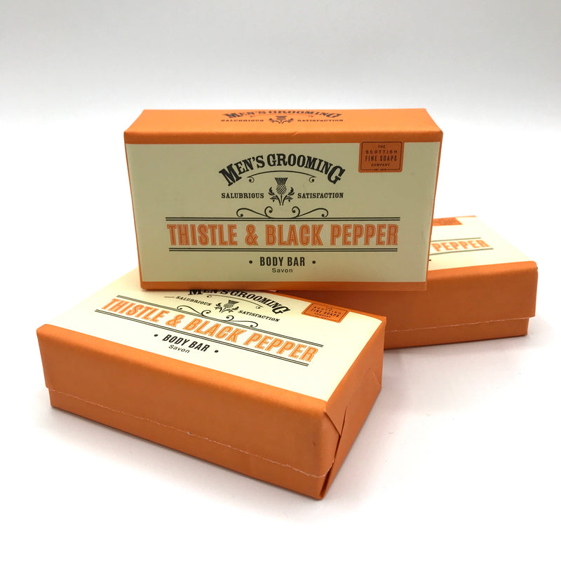 Men's Grooming Thistle & Black Pepper Soap Bar - Bagel&Griff