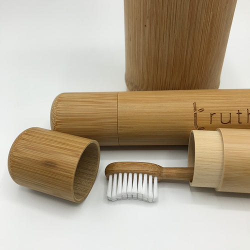 """Truth"" Brush Travel Container - Bagel&Griff"