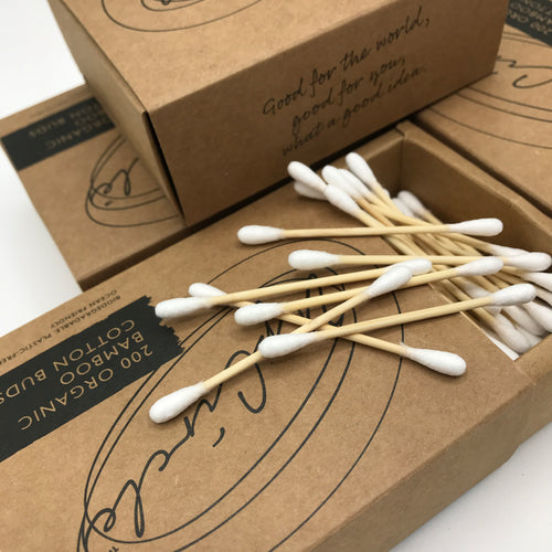 Up Circle Organic Bamboo Cotton Buds - Bagel&Griff