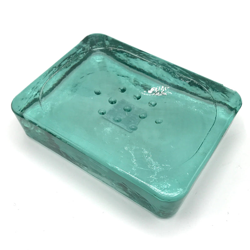 Recycled Glass Soap Dish - Bagel&Griff