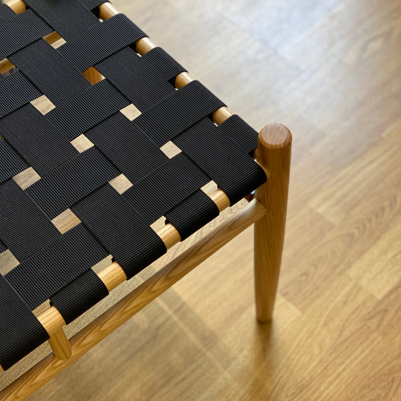 Black Woven Bench - Bagel&Griff