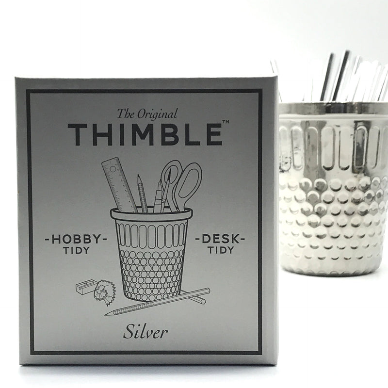 Metallic Silver Thimble Desk Tidy - Bagel&Griff