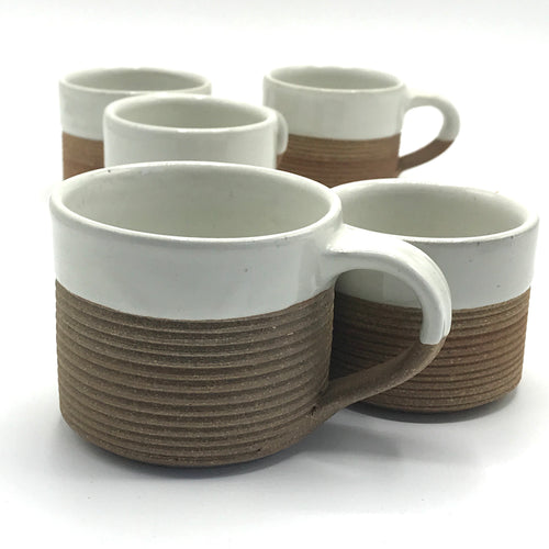Terracotta Ribbed Mugs - Bagel&Griff