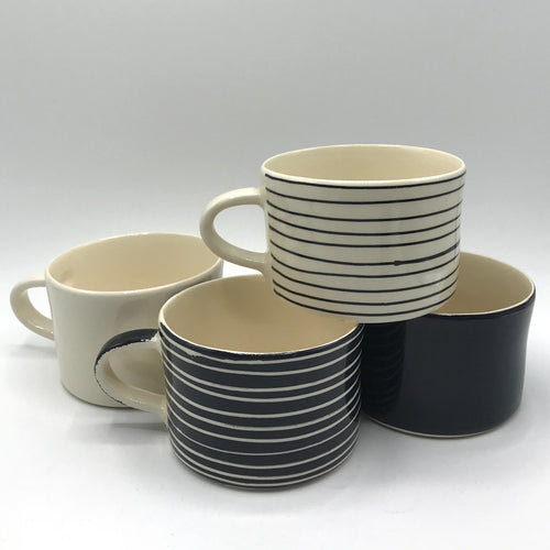 Navy Portuguese Ceramic Mugs - Bagel&Griff