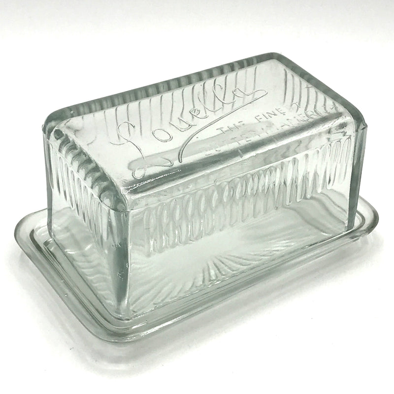 Square Glass Butter Dish - Bagel&Griff
