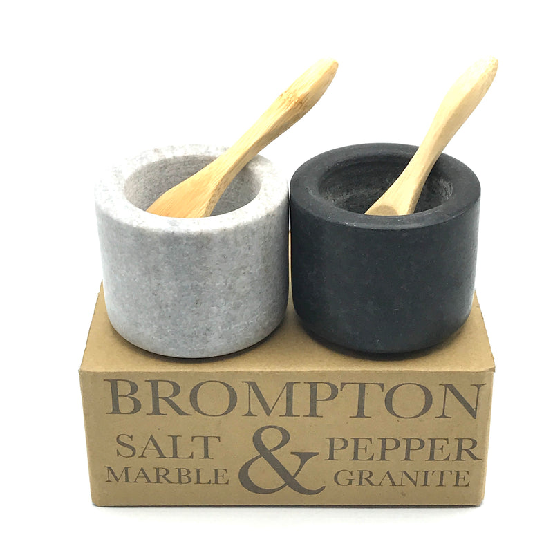 Black & Grey Salt and Pepper Pots - Bagel&Griff