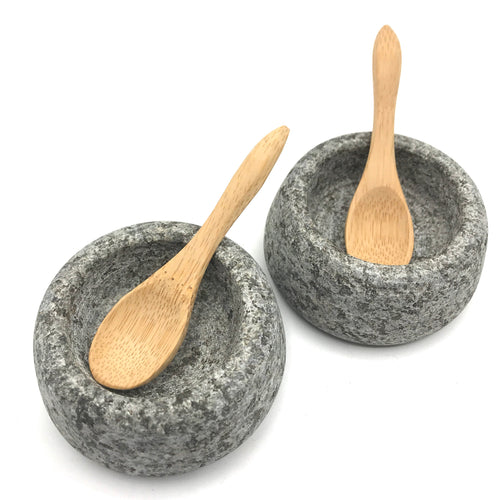 Raw Granite Salt & Pepper Pots - Bagel&Griff