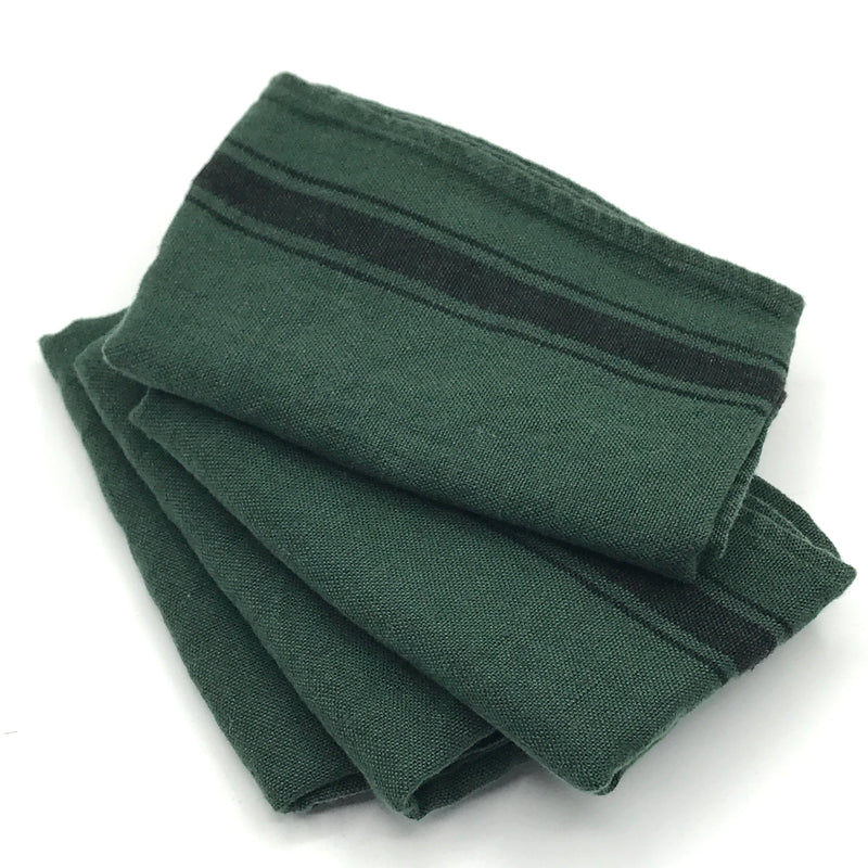 Dark Green Linen Tea Towel - Bagel&Griff