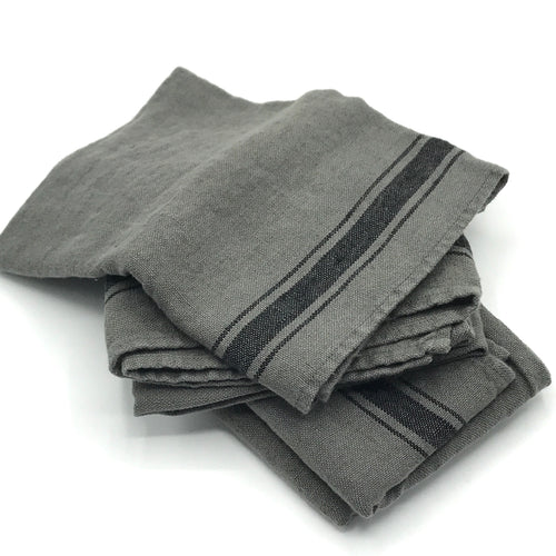 Dark Grey Linen Tea Towel - Bagel&Griff