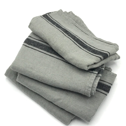 Pale Grey Linen Tea Towel - Bagel&Griff