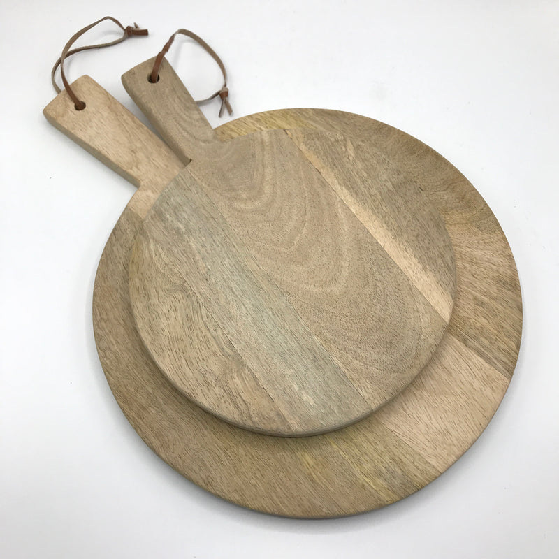 Round Mango Wood Serving Board - Bagel&Griff