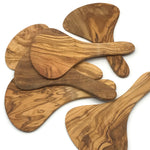 Olive Wood Scoop Salad Servers - Bagel&Griff